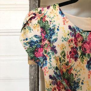 DARLING Floral Cream Dress